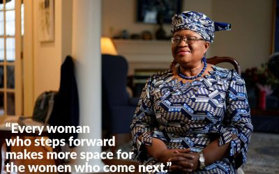 Lead the way Ngozi Okonjo-Iweala!